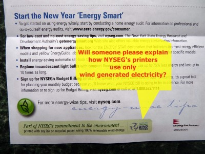 NYSEG insert -- 100% renewable energy