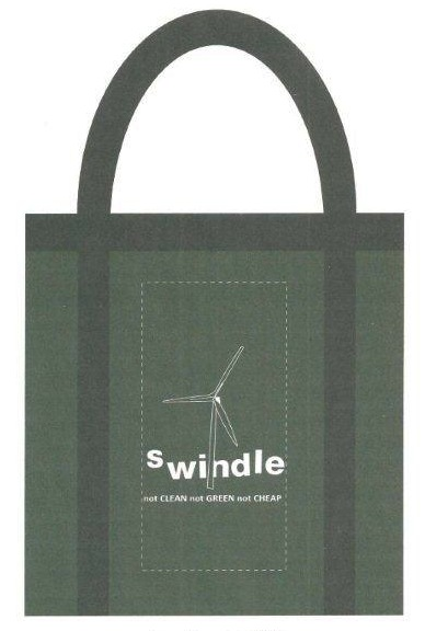 sWindle tote bag: not clean, not cheap, not green