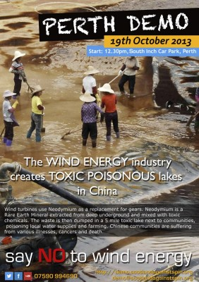 The WIND ENERGY industry creates TOXIC POISONOUS lakes in China.