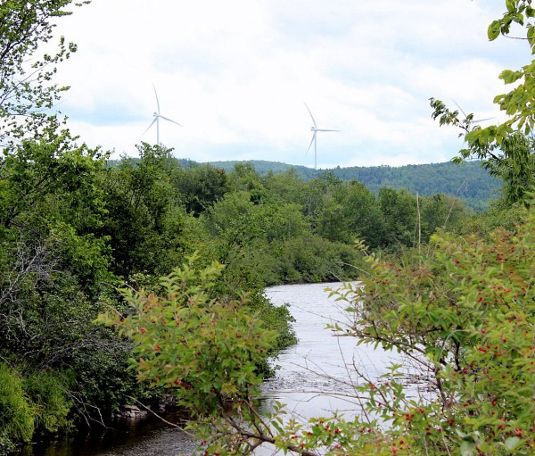 """Escape for some fishing?  The turbines are present everywhere!  If we don't stop industrial wind sprawl, every common pleasant scene that makes up our """"Quality of Place"""" will be ruined."""