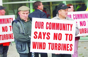 CANAG wind turbine protest