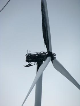 Mt. Storm turbine after fire