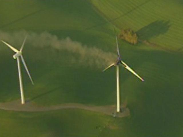 Fire guts huge windmill