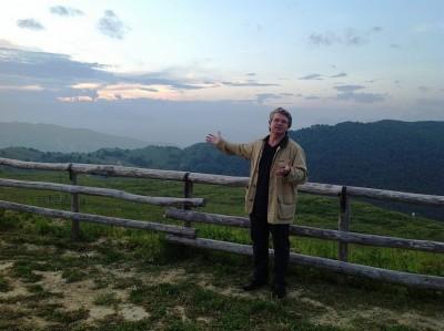 Andrea Zanoni sul Monte Pizzoc