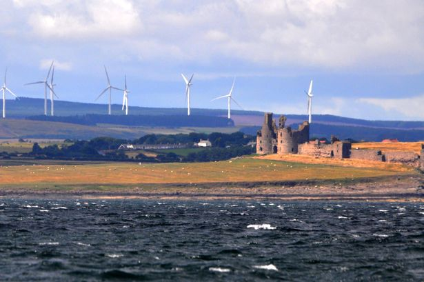 Dunstanburgh Castle from the sea