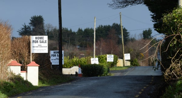 "Local from Irremore, Listowel, with ""Home for sale"" posters oppose wind turbines. Picture: Domnick Walsh / Eye Focus LTD"
