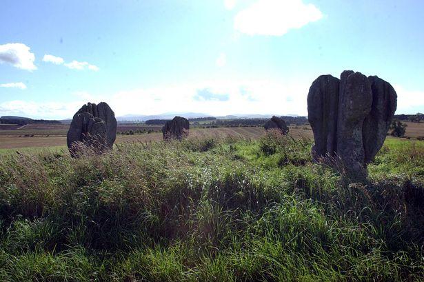 The Duddo stone circle in Northumberland