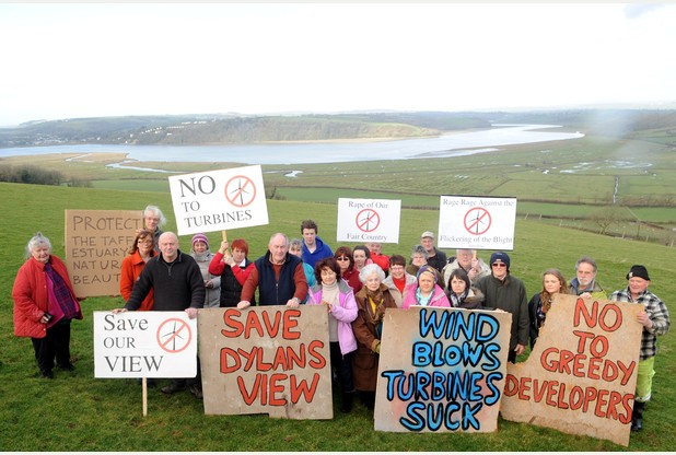 Campaigners take fight to Welsh Government to save Dylan Thomas view