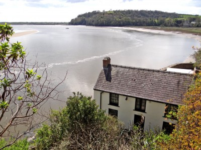 Dylan Thomas's Boathouse at Mwche farm, Llansteffan