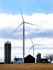 Wind turbines in the town of Glenmore in southern Brown County. (Photo: H. Marc Larson/Press-Gazette Media)