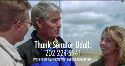 AWEA officials explain that this isn't a campaign ad, though it ran in the first weeks of the general election. (American Wind Energy)