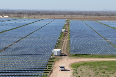 The 380 acre Webberville Solar Farm outside of Austin