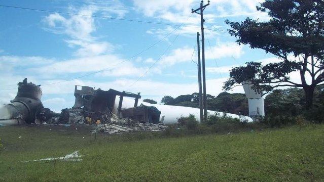 Se desploma un aerogenerador de Amayo en Rivas