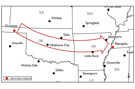 The line will carry wind power from Oklahoma to Tennessee.