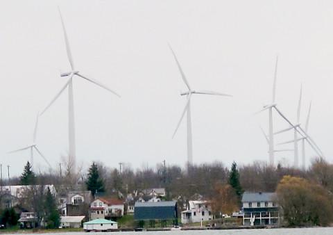 Wolfe Island wind farm.  Photo by Nicole Kleinsteuber