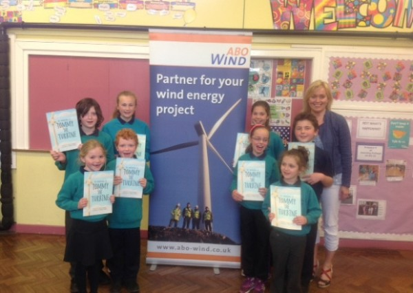 Pupils at Carnlough Controlled Integrated Primary School recently received their copies of Tommy the Turbine INLT 27-656-CON