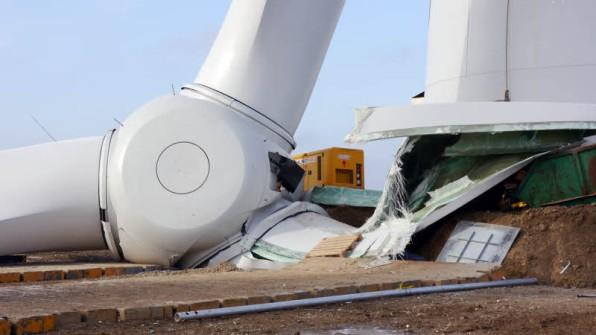 Das ist der herabgestürzte Rotor. Foto: Thomas Bein