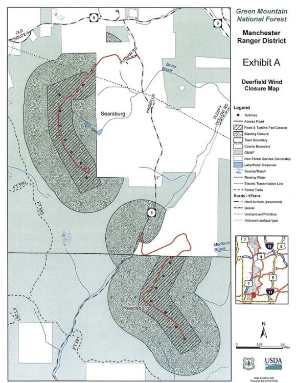 A map of the affected areas      U.S. FOREST SERVICE