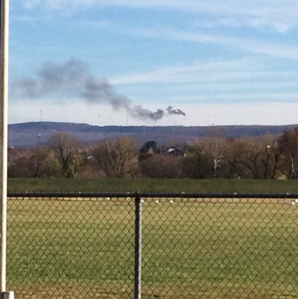 Viewer photo of turbine fire in Luzerne County, Courtesy: Nancy