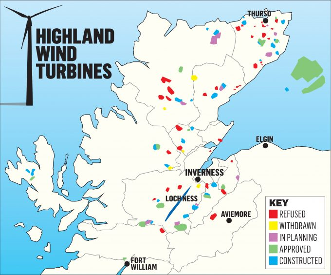 Highlands Windfarm Map Explained Wind Energy News - Most up to date maps