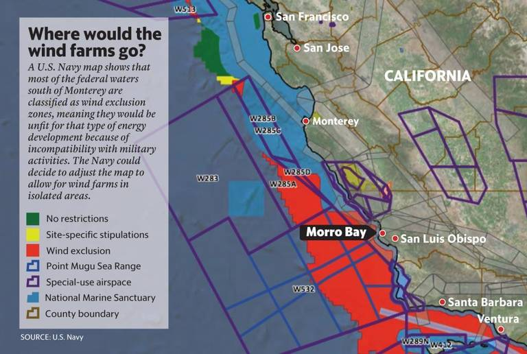 Will The Navy Sink Plans For Wind Farms Off Morro Bay Wind Energy