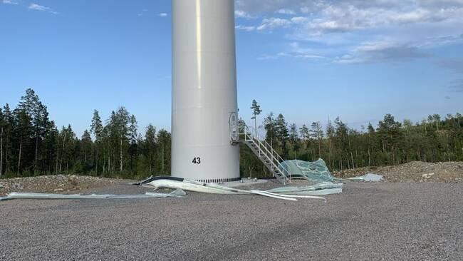 Bild från olyckan i juli 2020. Foto: Privat